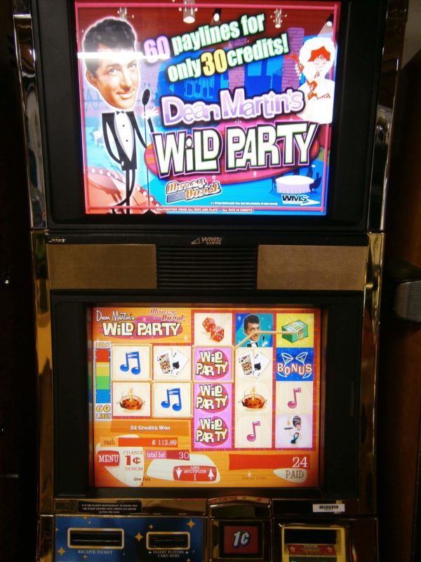 WILLIAMS Dean Martin Wild Party double lcd screens vegas slot machine for sale