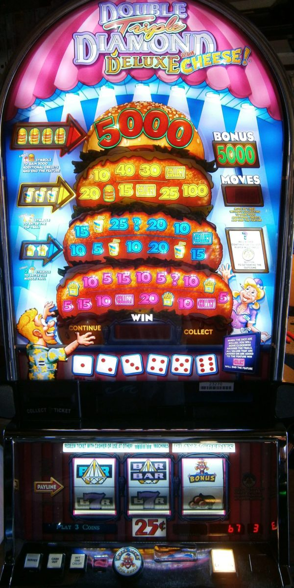 IGT Double Triple Diamond with cheese vegas slot machine for sale